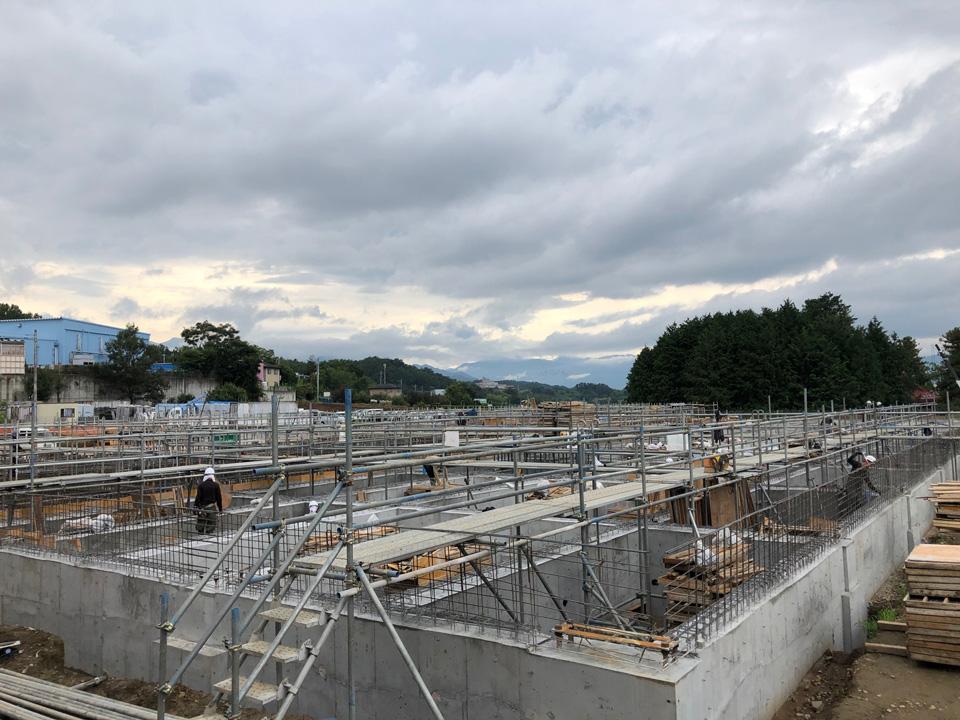 新センター工事進捗状況