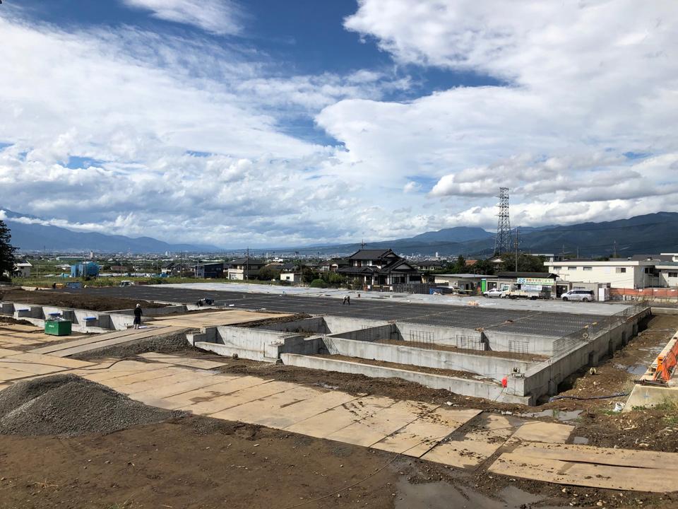 新センターの基礎工事
