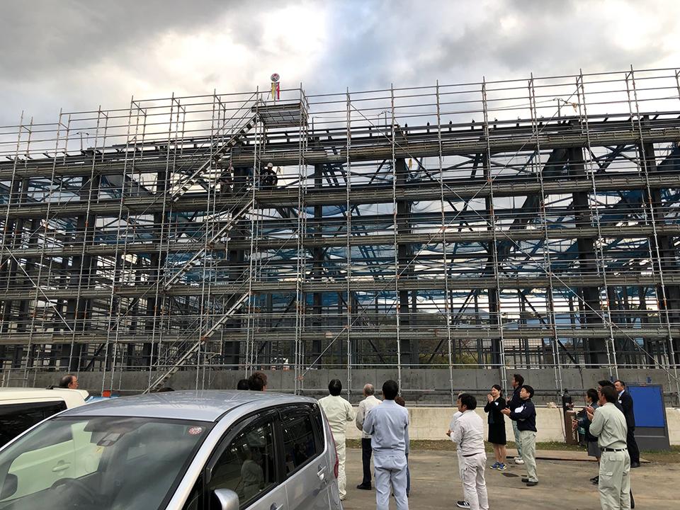 白井新センターが上棟
