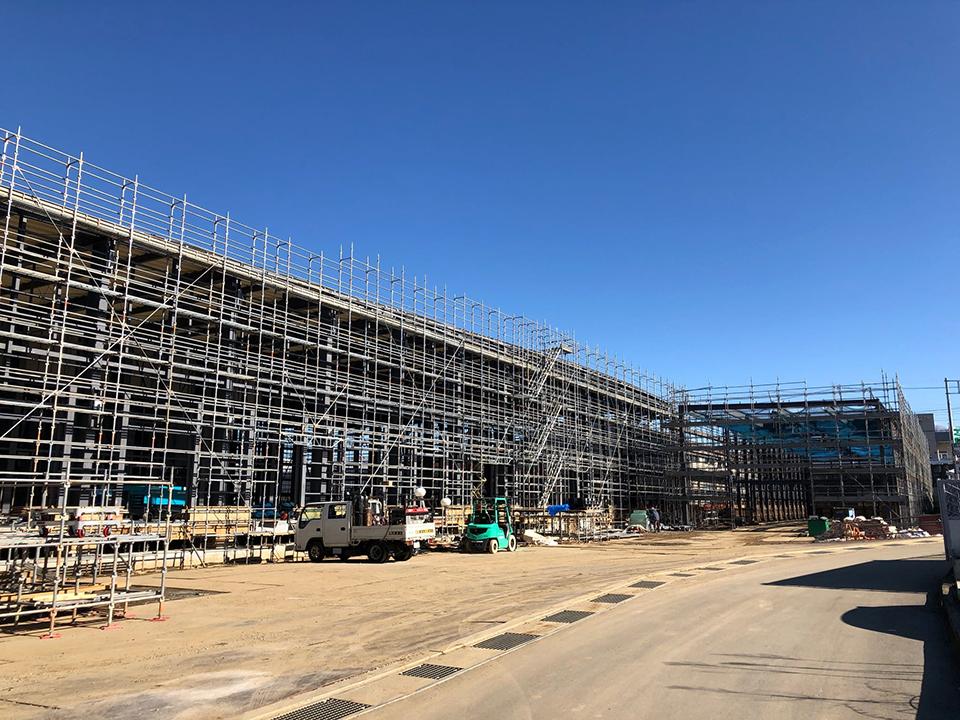 白井新センター工事の進捗